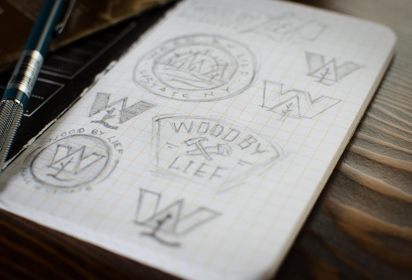 Wood By Lief Alternate Logo Sketching