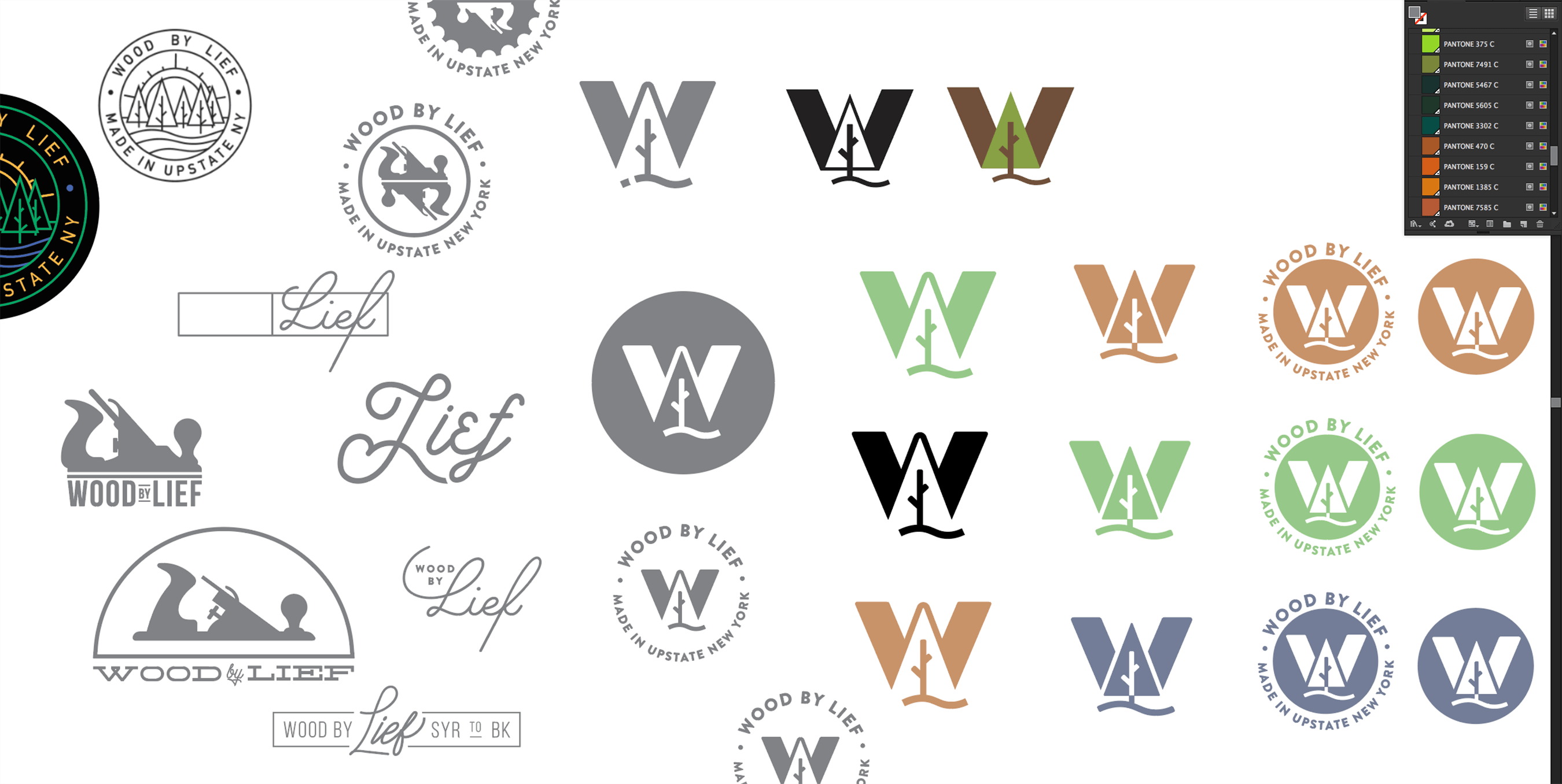 Wood By Lief Logo Development